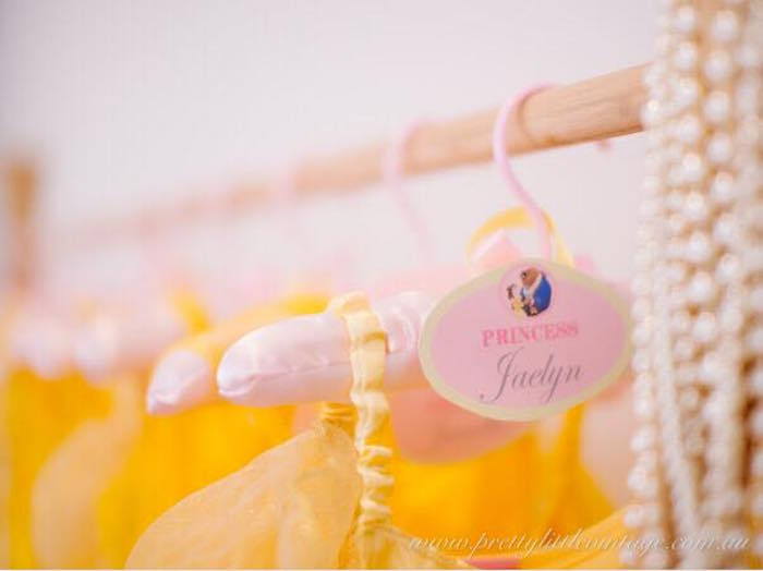 Personalized favor tag from a Princess Belle Inspired Beauty and the Beast Birthday Party on Kara's Party Ideas | KarasPartyIdeas.com (19)