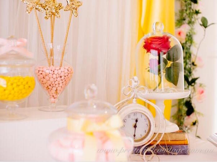 Enchanted Rose from a Princess Belle Inspired Beauty and the Beast Birthday Party on Kara's Party Ideas   KarasPartyIdeas.com (14)