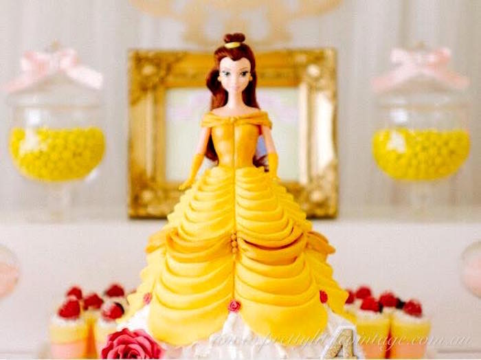 Belle from a Princess Belle Inspired Beauty and the Beast Birthday Party on Kara's Party Ideas | KarasPartyIdeas.com (10)