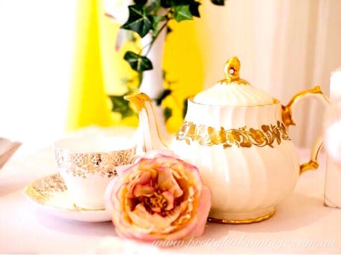 Tea kettle and cup from a Princess Belle Inspired Beauty and the Beast Birthday Party on Kara's Party Ideas   KarasPartyIdeas.com (8)