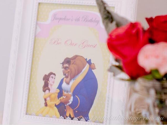 Party print from a Princess Belle Inspired Beauty and the Beast Birthday Party on Kara's Party Ideas | KarasPartyIdeas.com (26)