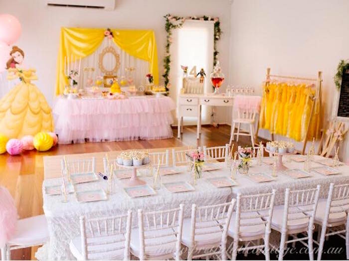 Princess Belle Decorations Custom Kara's Party Ideas » Princess Belle Inspired Beauty And The Beast Decorating Design