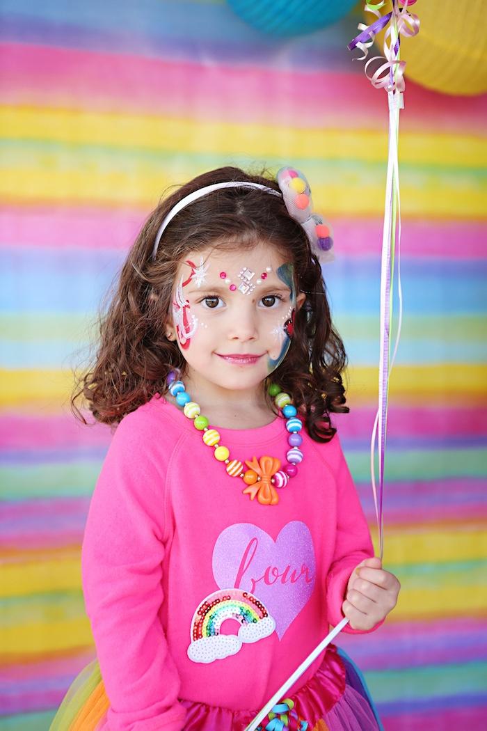 Rainbow Heart Birthday Party on Kara's Party Ideas | KarasPartyIdeas.com (13)