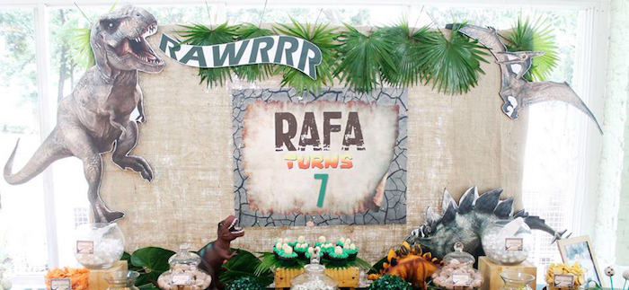 Roaring Dinosaur Birthday Party on Kara's Party Ideas | KarasPartyIdeas.com (1)