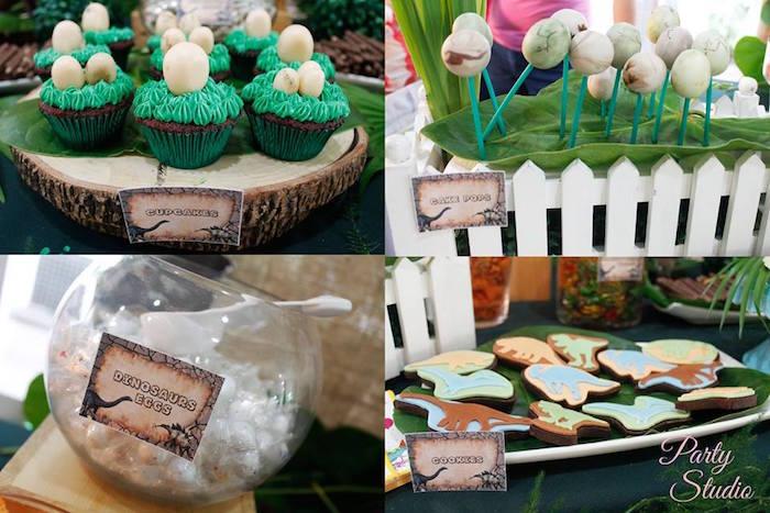 Dinosaur sweets from a Roaring Dinosaur Birthday Party on Kara's Party Ideas | KarasPartyIdeas.com (6)