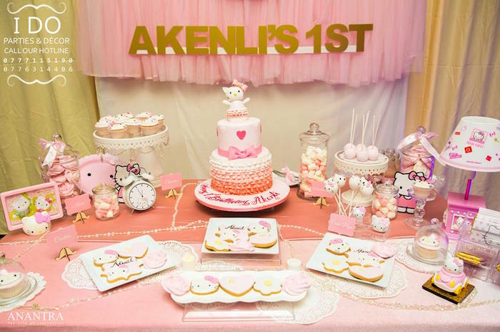 Hello Kitty 1st Birthday Party Ideas Vatozozdevelopment