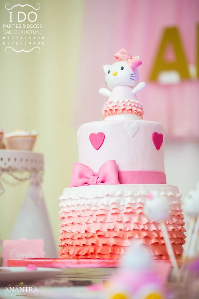 Ruffled Hello Kitty Birthday Party on Kara's Party Ideas | KarasPartyIdeas.com (8)