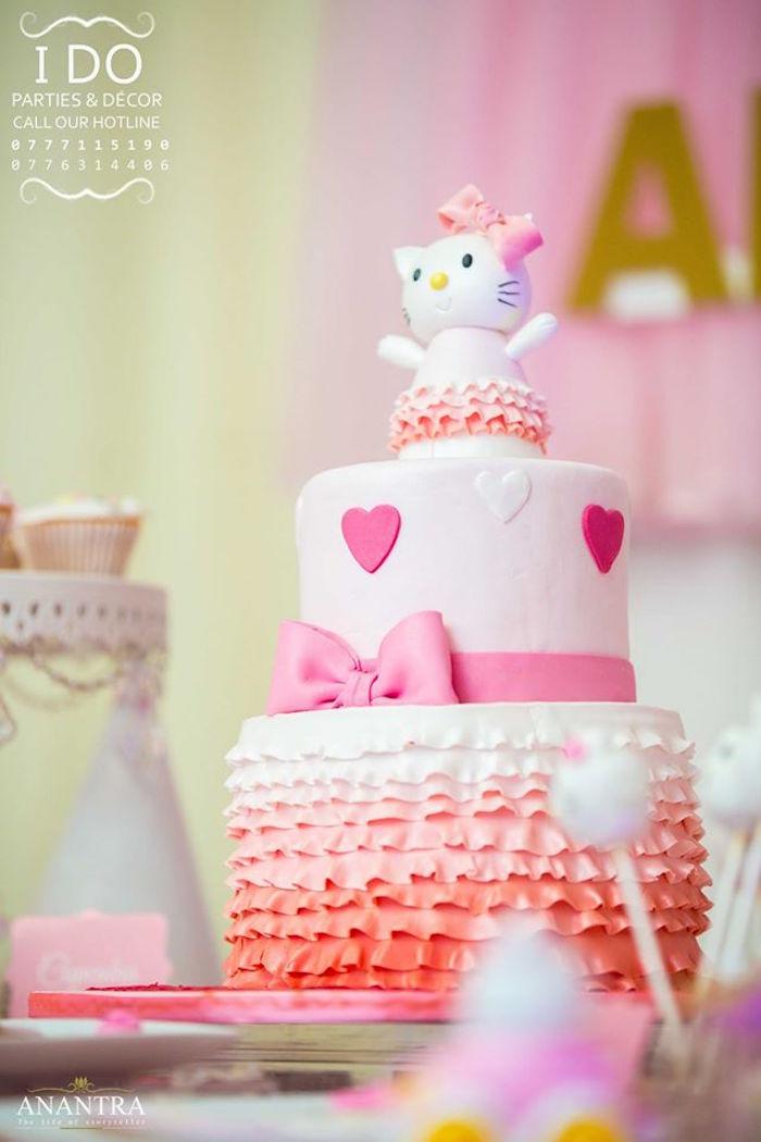 Karas Party Ideas Ruffled Hello Kitty Birthday Party