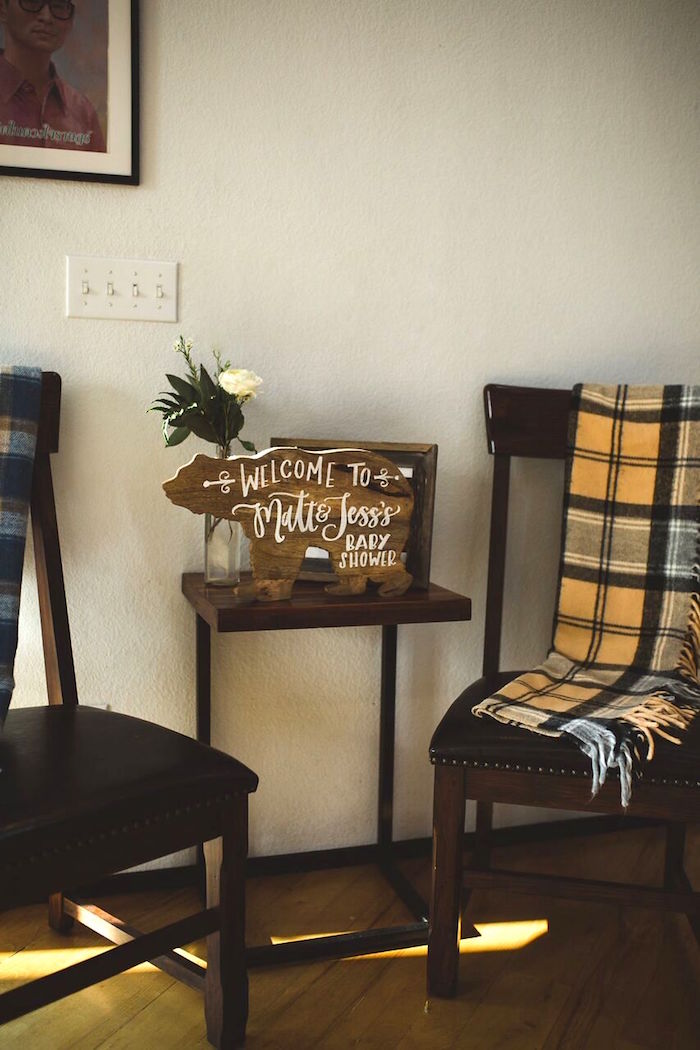 Decor from a Rustic Camping Baby Shower on Kara's Party Ideas | KarasPartyIdeas.com (18)
