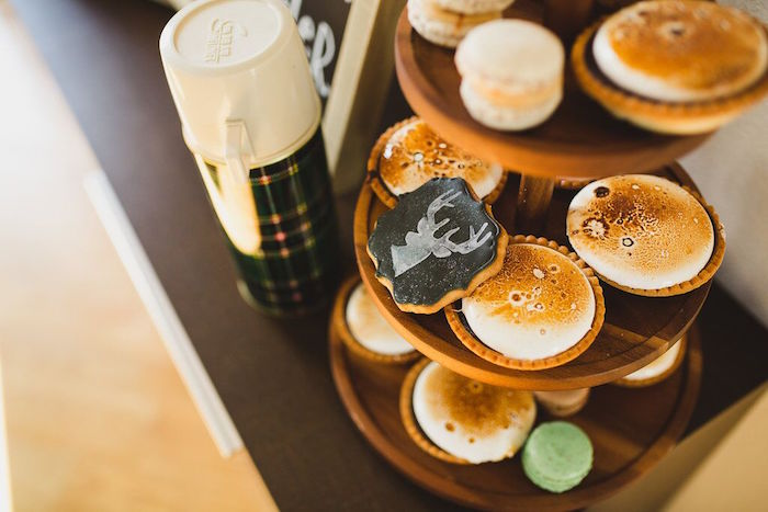 S'more tarts from a Rustic Camping Baby Shower on Kara's Party Ideas | KarasPartyIdeas.com (15)