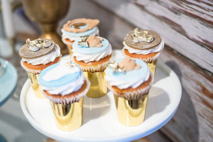 Cupcakes from a Rustic Chic Baby Shower on Kara's Party Ideas | KarasPartyIdeas.com (31)