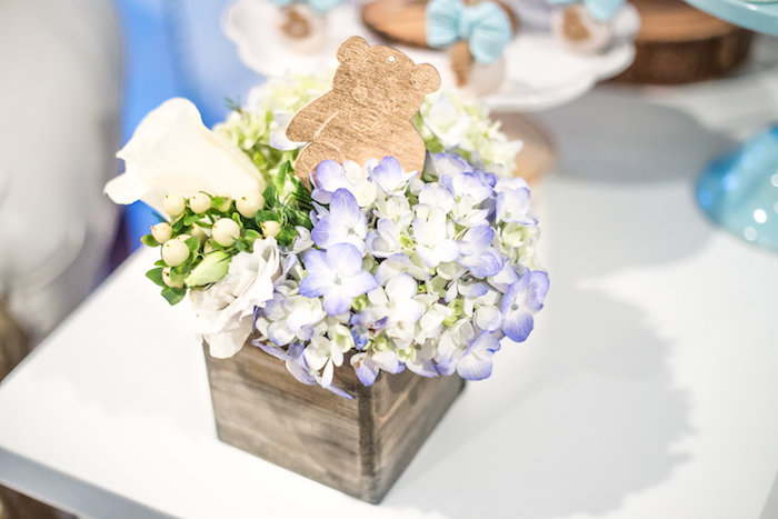 Bloom box from a Rustic Chic Baby Shower on Kara's Party Ideas | KarasPartyIdeas.com (29)