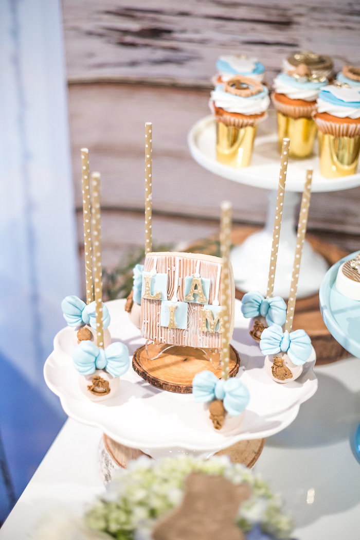 Cake Pops From A Rustic Chic Baby Shower On Karas Party Ideas