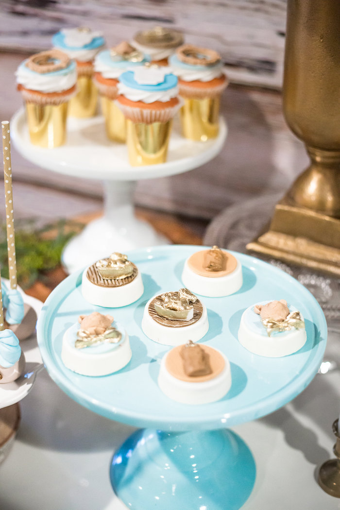 Chocolate covered Oreos from a Rustic Chic Baby Shower on Kara's Party Ideas | KarasPartyIdeas.com (27)