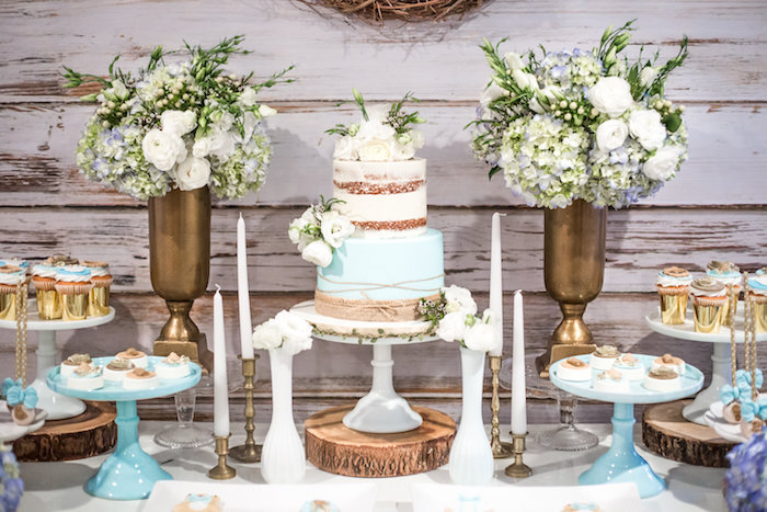 Cakescape from a Rustic Chic Baby Shower on Kara's Party Ideas | KarasPartyIdeas.com (26)