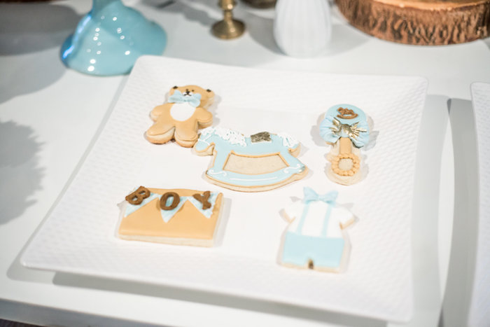 Cookies from a Rustic Chic Baby Shower on Kara's Party Ideas | KarasPartyIdeas.com (22)