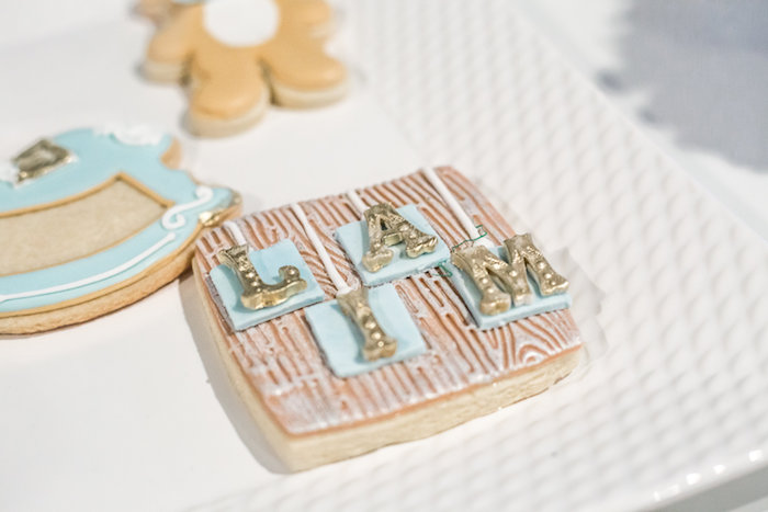 Cookie from a Rustic Chic Baby Shower on Kara's Party Ideas | KarasPartyIdeas.com (19)