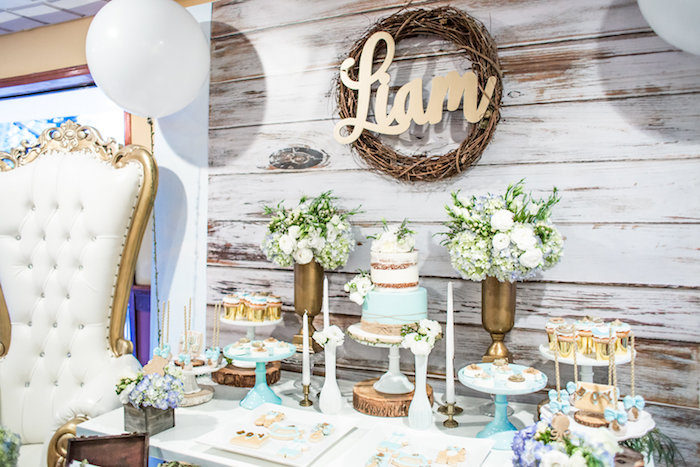 baby boy in blue well then this adorable rustic chic baby shower