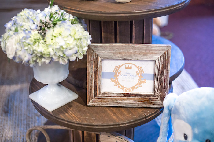 Rustic framed print from a Rustic Chic Baby Shower on Kara's Party Ideas | KarasPartyIdeas.com (35)