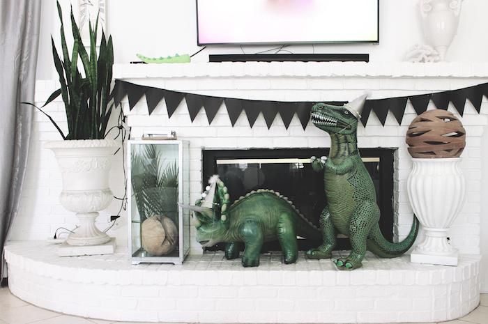 Dinosaur decor from a Rustic Dinosaur Birthday Party on Kara's Party Ideas | KarasPartyIdeas.com (7)