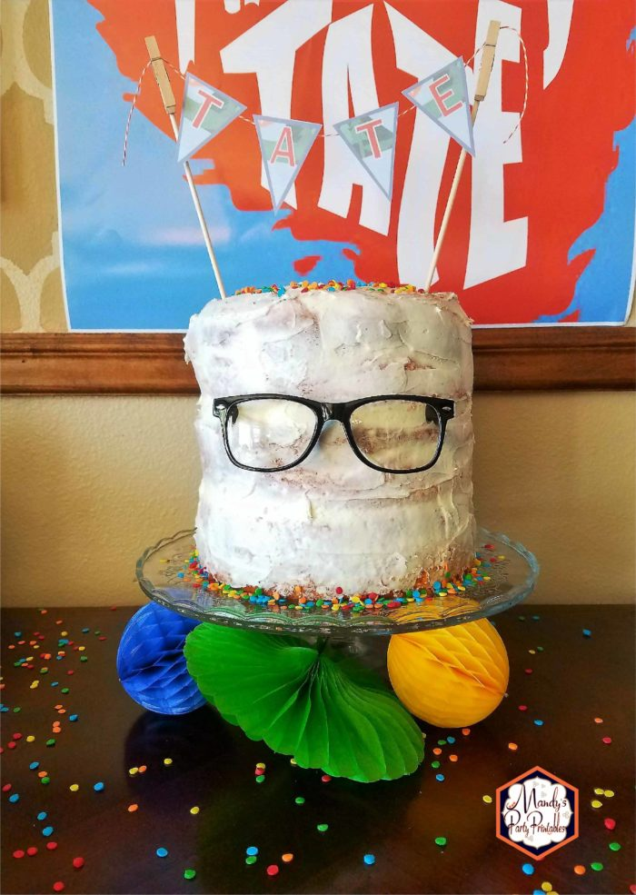 Semi-Naked Link Cake from Good Mythical Morning Inspired Birthday Party via Mandy's Party Printables via Kara's Party Ideas