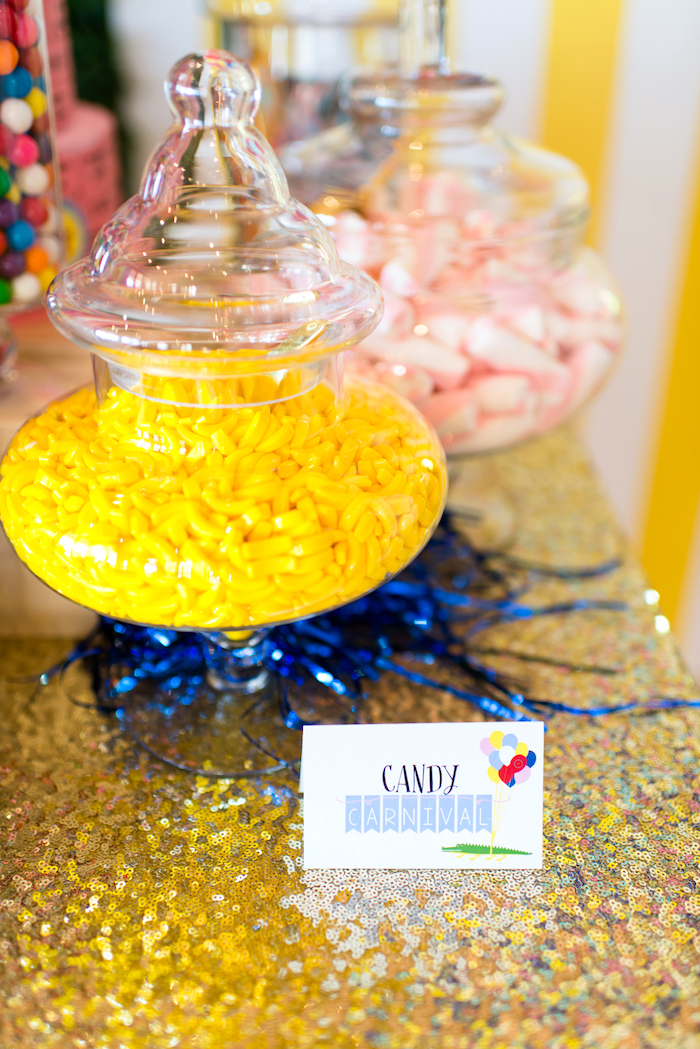 Candy buffet from a Showtime Circus Birthday Party on Kara's Party Ideas | KarasPartyIdeas.com (21)