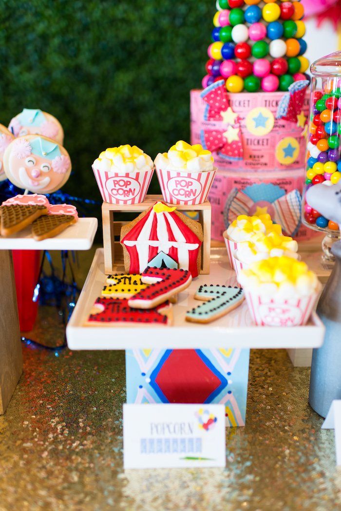 Cupcakes and cookies from a Showtime Circus Birthday Party on Kara's Party Ideas | KarasPartyIdeas.com (19)