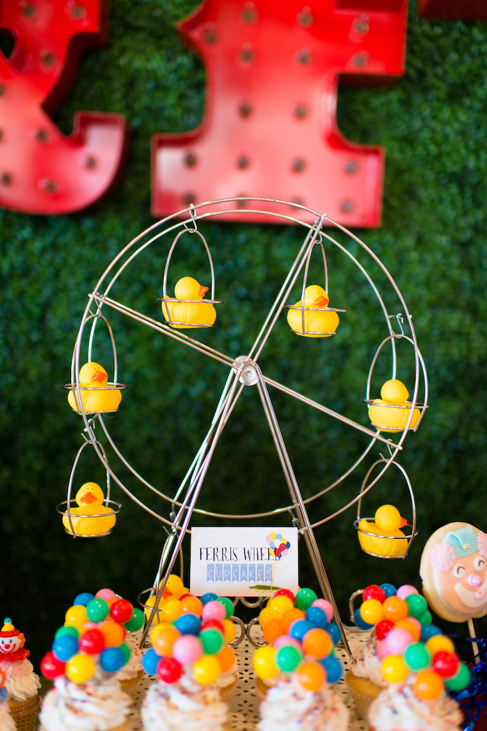 Ferris wheel cupcakes from a Showtime Circus Birthday Party on Kara's Party Ideas | KarasPartyIdeas.com (17)
