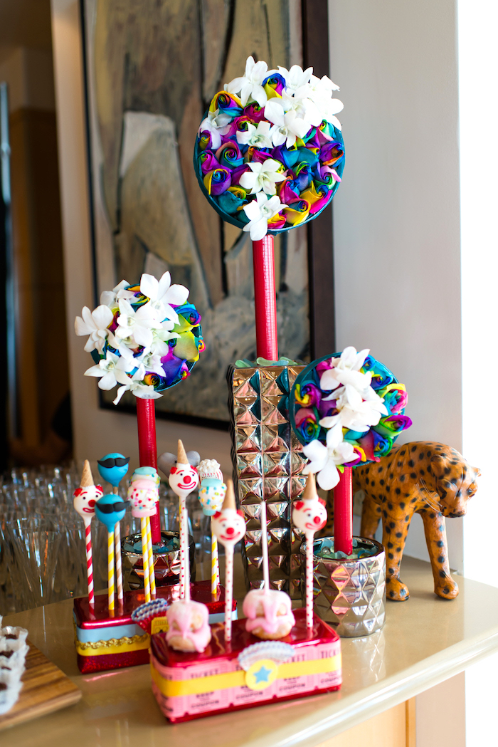 Sweets and decor from a Showtime Circus Birthday Party on Kara's Party Ideas | KarasPartyIdeas.com (12)