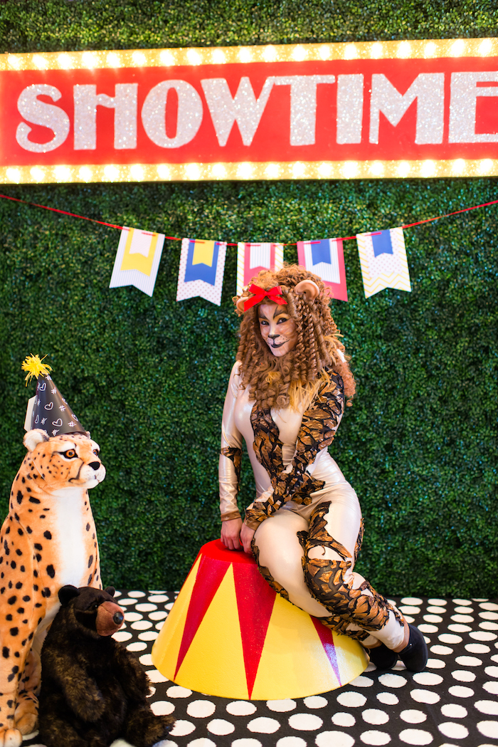 Photo booth from a Showtime Circus Birthday Party on Kara's Party Ideas | KarasPartyIdeas.com (9)