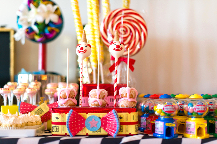 Sweets + favors from a Showtime Circus Birthday Party on Kara's Party Ideas | KarasPartyIdeas.com (7)