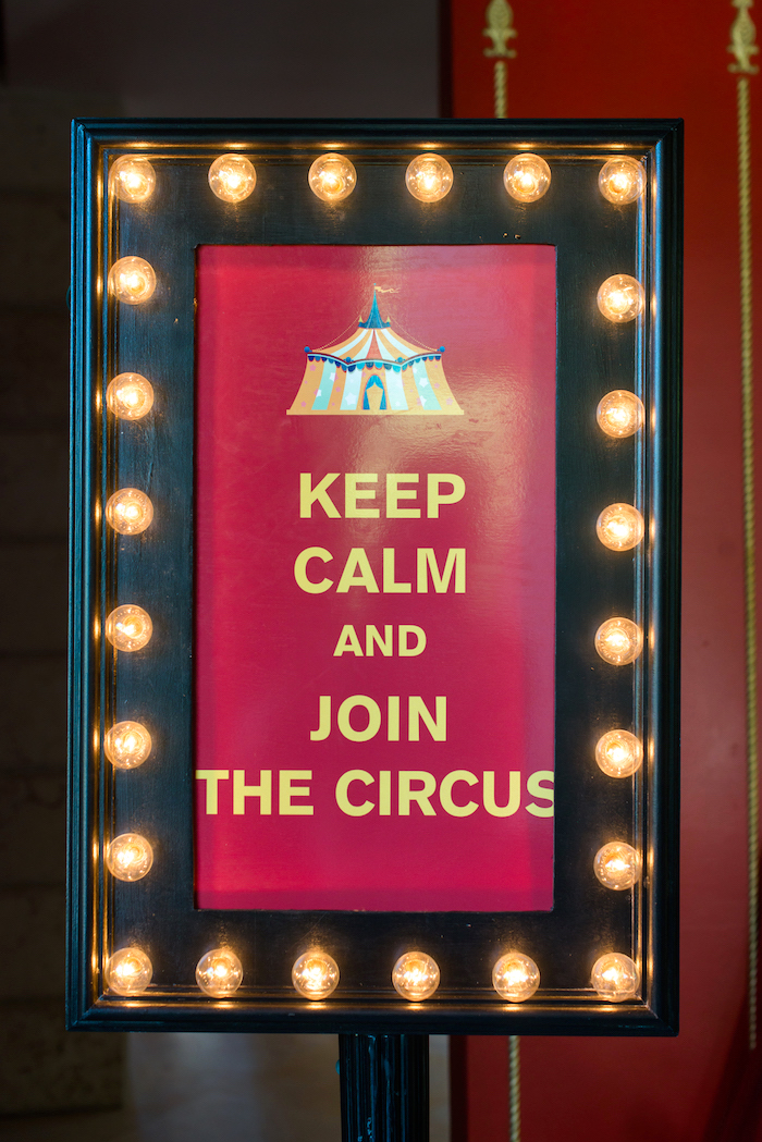 Marquee light sign from a Showtime Circus Birthday Party on Kara's Party Ideas | KarasPartyIdeas.com (6)