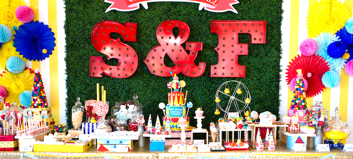Showtime Circus Birthday Party on Kara's Party Ideas | KarasPartyIdeas.com (4)