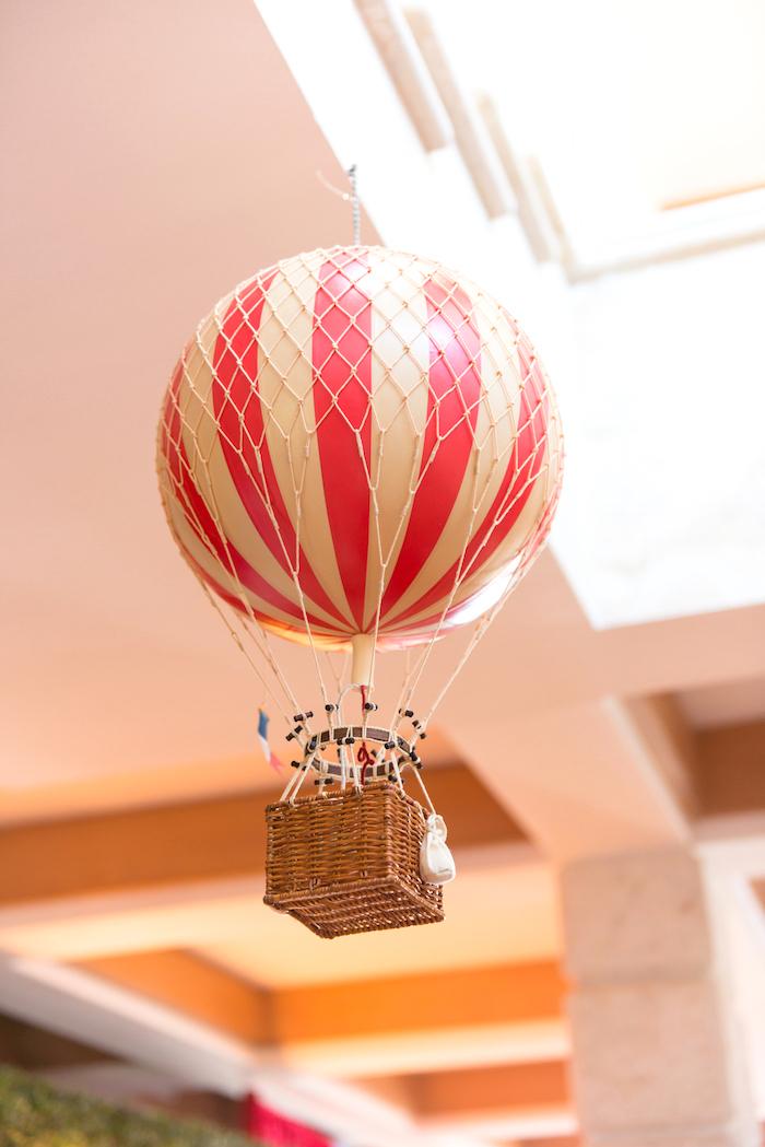 Balloon hot air balloon from a Showtime Circus Birthday Party on Kara's Party Ideas | KarasPartyIdeas.com (28)
