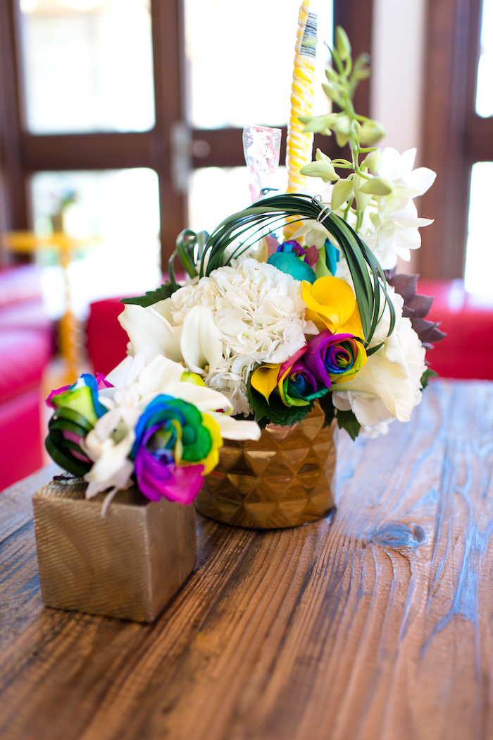 Floral arrangements from a Showtime Circus Birthday Party on Kara's Party Ideas | KarasPartyIdeas.com (26)