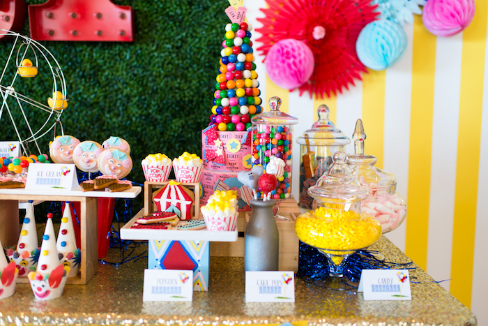 Candy and sweets from a Showtime Circus Birthday Party on Kara's Party Ideas | KarasPartyIdeas.com (22)