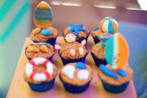 Cupcakes from a Surfing Birthday Party on Kara's Party Ideas | KarasPartyIdeas.com (26)