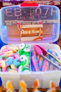 Shark bait, tackle box from a Surfing Birthday Party on Kara's Party Ideas | KarasPartyIdeas.com (25)