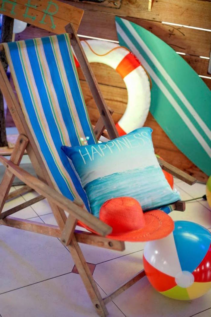 Beach lounge from a Surfing Birthday Party on Kara's Party Ideas | KarasPartyIdeas.com (24)