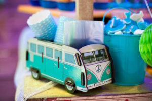VW box container from a Surfing Birthday Party on Kara's Party Ideas | KarasPartyIdeas.com (21)