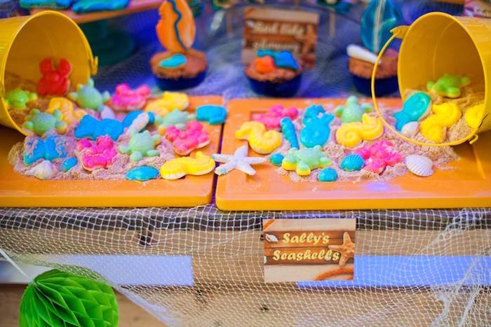 Gummy sea creatures from a Surfing Birthday Party on Kara's Party Ideas | KarasPartyIdeas.com (18)