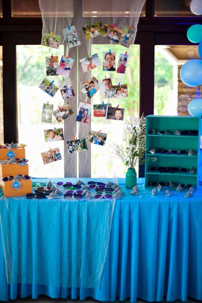 Party table from a Surfing Birthday Party on Kara's Party Ideas | KarasPartyIdeas.com (9)