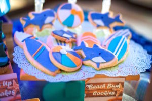 Surf themed sugar cookies from a Surfing Birthday Party on Kara's Party Ideas | KarasPartyIdeas.com (32)