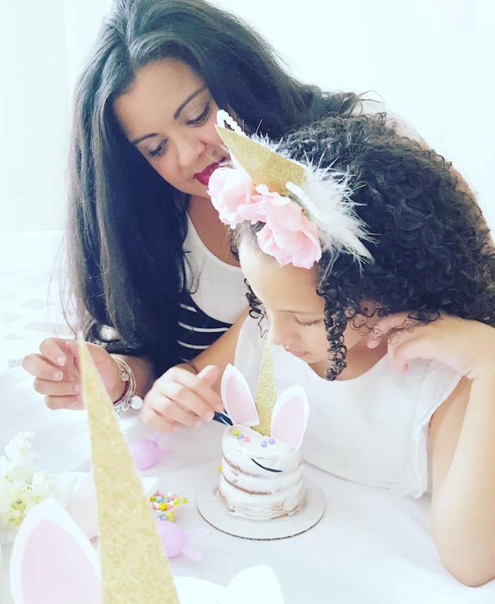 Cake decorating from a Sweet Unicorn Party - Cake Decorating Activity on Kara's Party Ideas | KarasPartyIdeas.com (13)