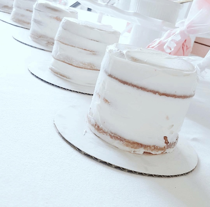 Semi-naked cakes from a Sweet Unicorn Party - Cake Decorating Activity on Kara's Party Ideas | KarasPartyIdeas.com (10)