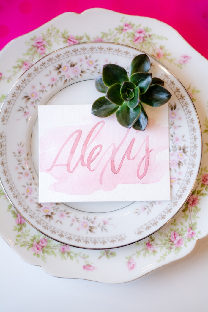 Place setting from a Tea & Toast Mother's Day Party on Kara's Party Ideas | KarasPartyIdeas.com (22)