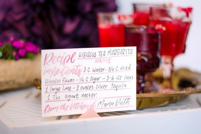 Hibiscus Tea Margarita Recipe from a Tea & Toast Mother's Day Party on Kara's Party Ideas | KarasPartyIdeas.com (39)
