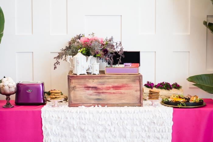 Tea table from a Tea & Toast Mother's Day Party on Kara's Party Ideas | KarasPartyIdeas.com (13)