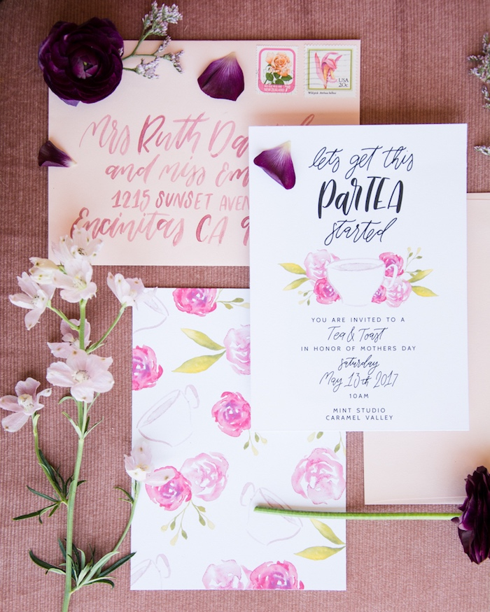 Floral Party Invite from a Tea & Toast Mother's Day Party on Kara's Party Ideas | KarasPartyIdeas.com (8)