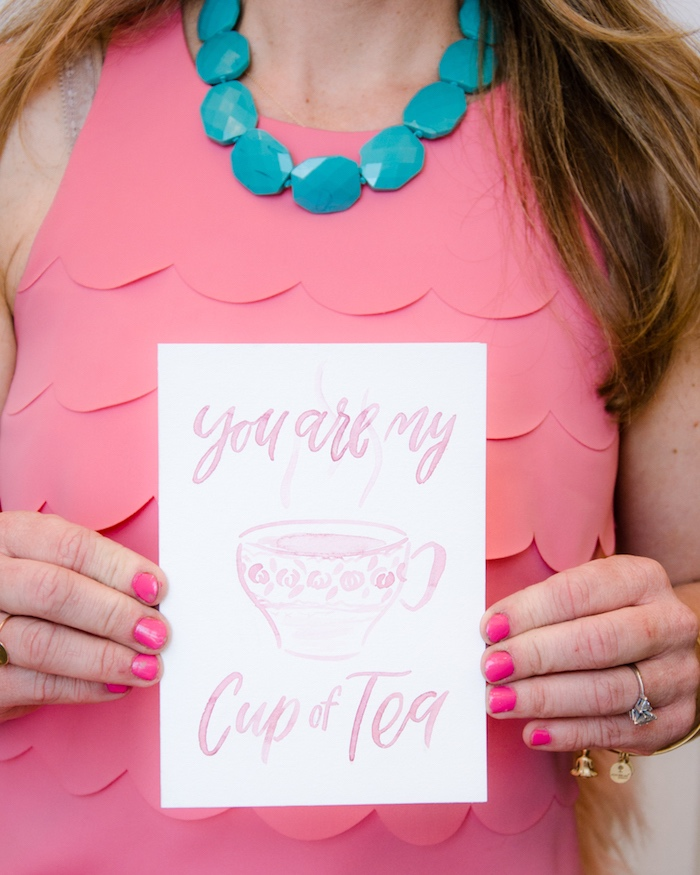 Party signage from a Tea & Toast Mother's Day Party on Kara's Party Ideas | KarasPartyIdeas.com (7)
